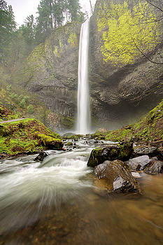 Latourell Falls Waterfall Columbia River Gorge Oregon by Dustin K Ryan