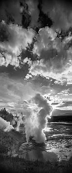 Ledge Geyser Yellowstone N P by Steve Gadomski