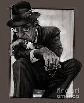 Leonard Cohen by Andre Koekemoer
