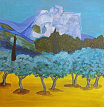 Les Alpilles by Rusty Woodward Gladdish