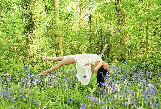 Levitation In Bluebells by Amanda Elwell
