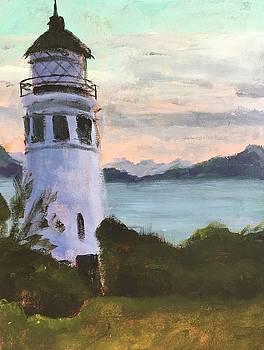 Lighthouse at Dusk by Susan E Jones
