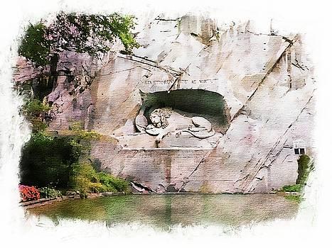 Lion of Lucerne by Joseph Hendrix