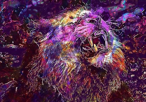 Lion Predator Cat Roar Zoo  by PixBreak Art