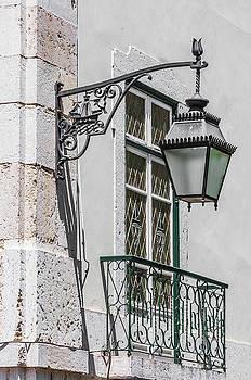 Lisbon Street Lamp 2 by Paul Donohoe