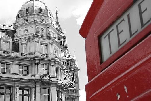 London Phone Booth by Inga Menn