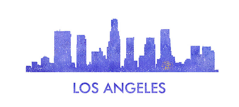 Vyacheslav Isaev - Los Angeles city purple skyline