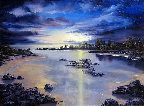 Low Tide Sunset by John Cocoris