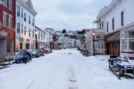 Mackinac Island, Michigan covered in snow  by PhotoStock-Israel