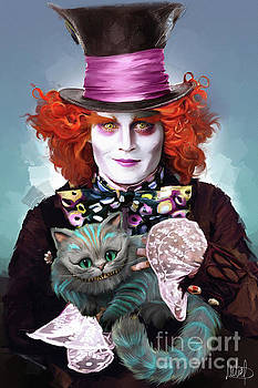 Mad Hatter and Cheshire Cat by Melanie D