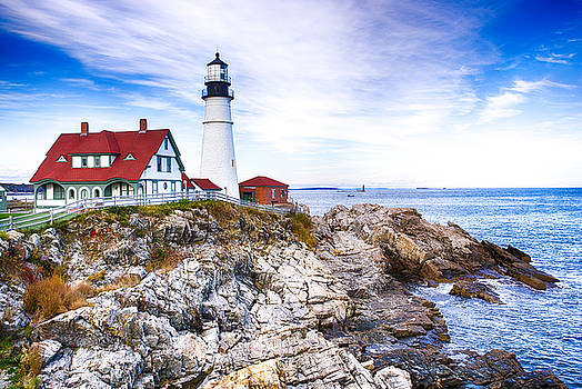 Maine Lighthouse by John Daly