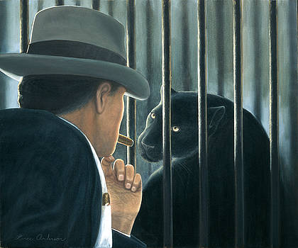 Man with Cigar by Lance Anderson