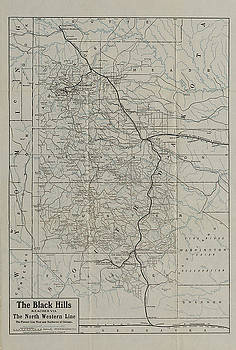 Chicago and North Western Historical Society - Route Map From 1908 Black Hills Tour Guide