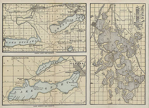 Chicago and North Western Historical Society - Late 1800s Map of Lake Geneva and Vicinity