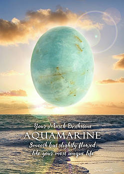 March Birthstone Aquamarine by Evie Cook