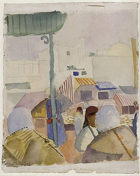 August Macke - Market In Tunis II