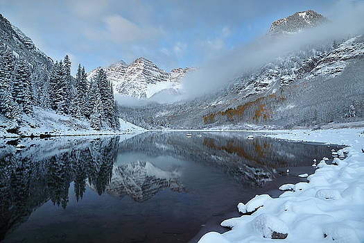 Maroon Bells  by Tom Cuccio