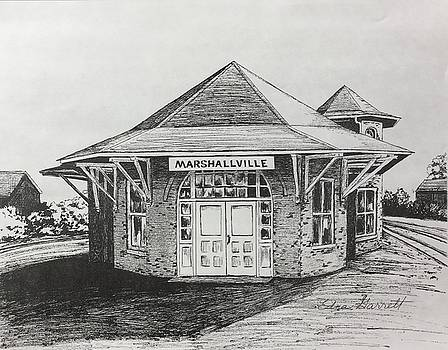 Marshallville Depot by Edna Garrett