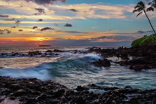 Maui Sunset at Secret Beach by John Hight