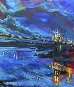 Menai Suspension Bridge by Karin McCombe Jones