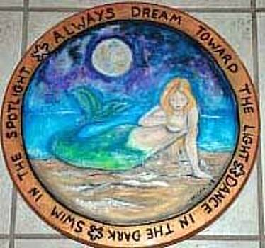 Mermaid Lazy Susan by Mickie Boothroyd