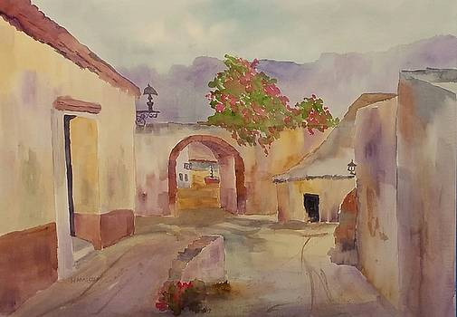 Mexican Street Scene by Larry Hamilton