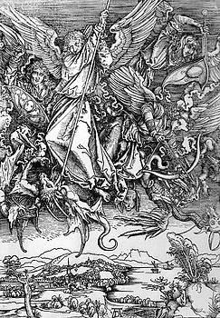 Michael Defeats Satan by Troy Caperton