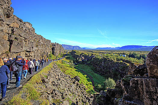 Mid-Atlantic Rise in Thingvellir, Iceland by Allan Levin