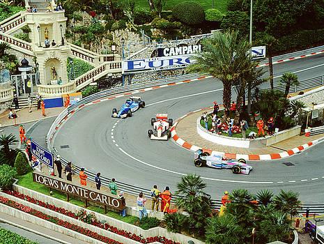 John Bowers -  Mika Hakkinen at Monaco GP