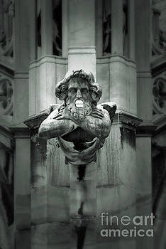 Gregory Dyer - Milan Italy Cathedral Gargoyle in Black and White
