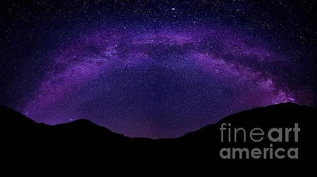 milky way above the Alps by Hannes Cmarits