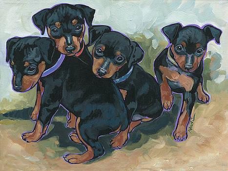 Min Pin Pups by Nadi Spencer