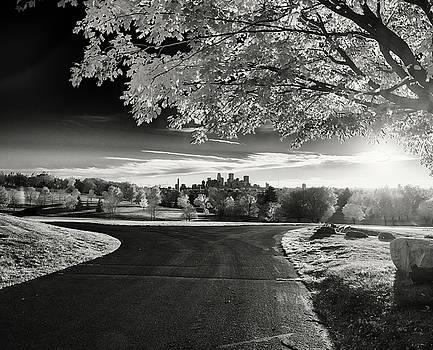 Minneapolis Skyline Black and White by Christopher Broste