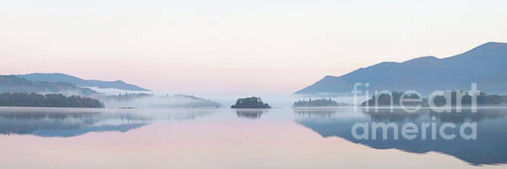 Misty Islands of Derwent Water by Gavin Dronfield