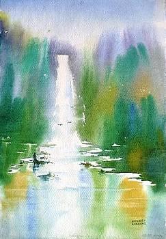 Misty Waterfall by Sandeep Khedkar