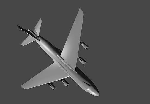 Model aircraft in 3D. by Alexandr  Malyshev