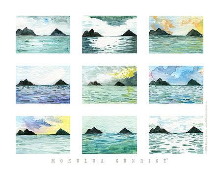 Mokulua Sunrise, series 1 print by Kirsten Carlson