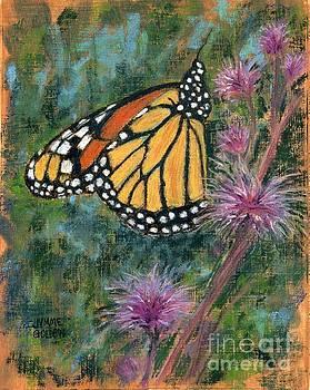 Monarch on Blazing Star by Jymme Golden