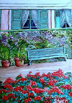Monet's Bench by Irving Starr