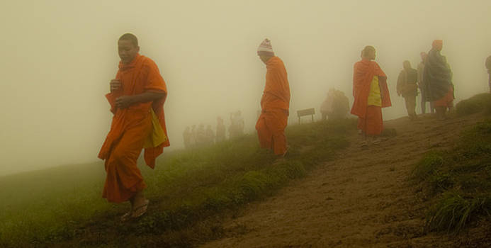 Monks in the Mist series by Leo Bello