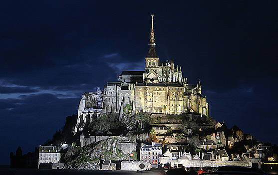 Mont St. Michel at Night by Joshua Francia