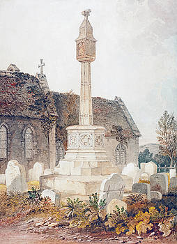 John Chessell Buckler - Monument in a Church Cemetery