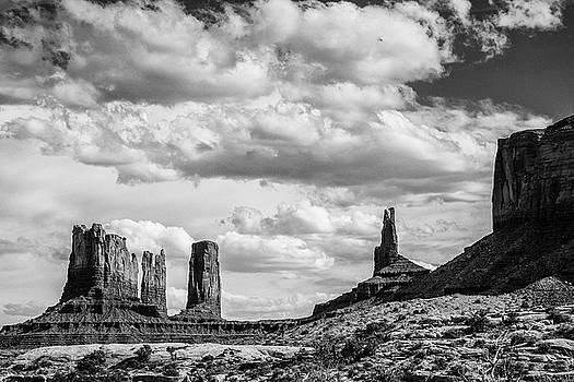 John McArthur - Monument Valley Black and White 1