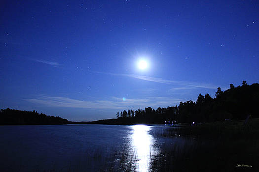 Moon over Piprell Lake by Andrea Lawrence