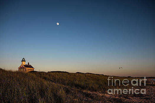 Moon over The North Light by Diane Diederich