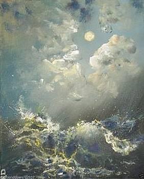 Moonlight Surf by Raymond Doward