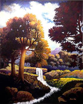 Morning At The Falls by Donn Kay