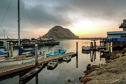 Morro Bay Rock Sunset by R Scott Duncan