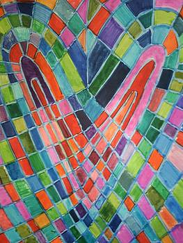 Mosaic heart by Brenda Adams
