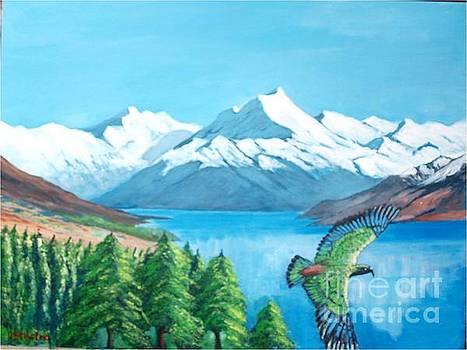 Mount Cook, New Zealand by Jean Pierre Bergoeing